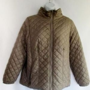 Womens Ladies ATHLETECH Quilted Vegan JACKET Coat